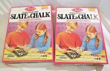 2 Vintage SLATE 'N CHALK Set by AVALON Tom Sawyer Contains Board Chalk Stencils