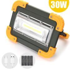 30W LED Arbeitsleuchte Aufladbar Lampe Außenstrahler Camping Fluter 4x18650 Akku