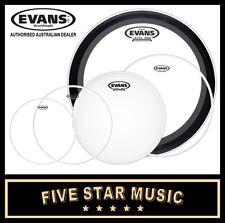 "EVANS G2 CLEAR 5 PCE DRUM SKIN ROCK EMAD SET 10"" 12"" 14"" 16"" 22"" HEADS NEW"