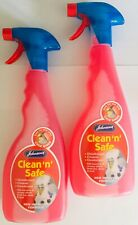 JOHNSON'S CLEAN N SAFE CAGE BIRD BUDGIE PARROT DISINFECTANT CLEANER 2 PACK 1L