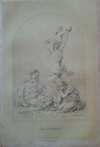 ANTIQUE PRINT C1800'S THE CRUCIFIXION ENGRAVING LIFE OF JESUS CHRIST HOLY BIBLE