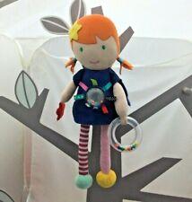 Eveil et Jeux poupée musicale activités Lisette bleue orange 38 cm