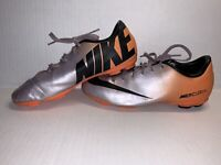 Nike JR Mercurial Victory IV FG Soccer Cleats Purple Orange Youth Size 5Y Boys