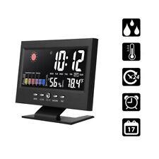 Digital LED Alarm Clock Snooze Calendar Display Weather Thermometer Hygrometer z