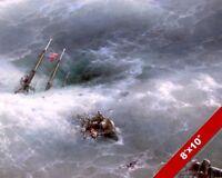 PAINTINGS SEASCAPE PORTRAIT SHIPWRECK VICTIMS LIGHTNING ART POSTER PRINT LV3455