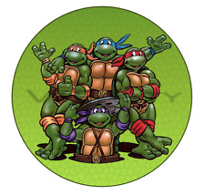 TMNT Ninja Turtles Edible Birthday Party Cake Decoration Topper Round Image