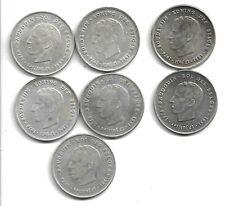 Belgique 1976 - 7 x 250 francs (2 x petits B) - Argent / Silver - Baudouin -(E4)