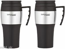 2x Thermos Thermocafe 2010 Stainless Steel Travel Car Mug Beaker Cup 0.4L Litre