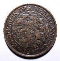 1917 Netherlands One 1 Cent - Wilhelmina - Lot 565