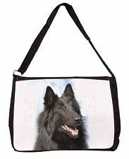 Black Belgian Shepherd Dog Large Black Laptop Shoulder Bag School/Coll, AD-BS3SB