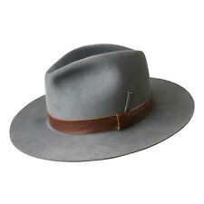 Bailey Bankhead Men's Steel Gray Wool Pinched Crown Polished Fedora Hat Sz Small