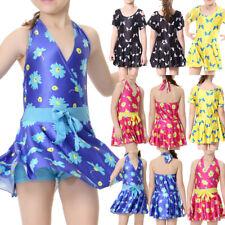 Kids Children Girls Muslim Swimwear Beachwear Bathing Costume Summer Swim Dress