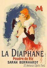 AP151 Vintage Art Français PARIS LA DIAPHANE publicité poster carte imprimer A5