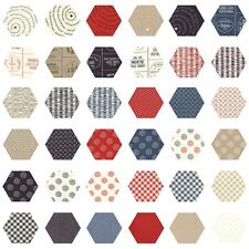 252 Fabric Hexagons - diecut from a Moda Layer Cake - Freedom by Sweetwater