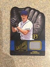 2016 PANINI PANTHEON GALLANT GLOVES GREG MADDUX GAME USED JERSEY #D /25 SP BRAVE