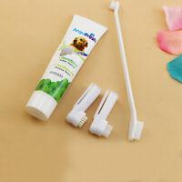 3pcs Brushes Dog Cat Pet Hygiene Teeth Care Toothbrush Toothpaste Set Kit