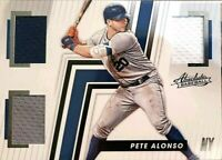PETE ALONSO Rookie Card 2019 Panini Absolute 3 Color Jersey Relic Mets ROY!