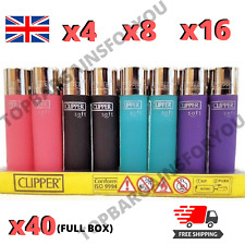 More details for clipper lighters set soft feel touch new genuine cool gas refillable flint