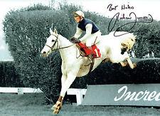 Richard Dunwoody Jockey Désert Orchidée Signé Autographe Photo 16x12 L'Association AFTAL COA