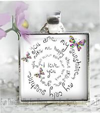 You Are My Sunshine Pendant Handcrafted Uplifting Love Friendship Jewelry Gift
