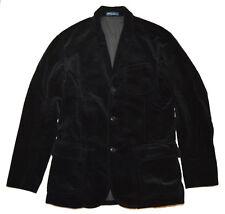 Polo Ralph Lauren Mens Corduroy Vintage Western Coat Blazer Jacket Black 40l