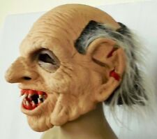 1999 Be Something Studios Old Man Zombie Fangs Adult Mask USA