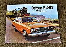 VTG 1973 ADV 1974  Datsun B-210 Flying Scot Brochure NM