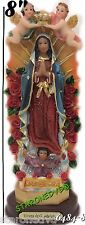 "Our Lady Of Guadalupe Statue Virgin Mary Virgen Maria De Guadalupe 8""inch"
