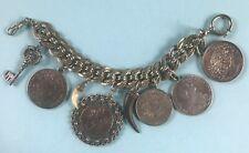 Charivari Silberkette 8 Anhänger Münzen Jagd Trophäe bay. Tracht Trachtenschmuck