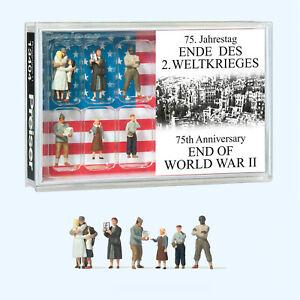 Preiser 13404 75. Anniversaire Fin De 2. Guerre Mondiale, H0, Neuf 2020
