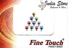 Modische bunte Bindis mit Perlen & Strass-Steinen   Orientalischer Stirnschmuck