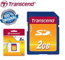 SCHEDA DI MEMORIA SD CARD 2 Gb giga byte TRANSCEND  2G SDC BLISTERATA ORIGINALE