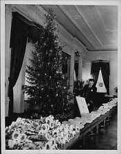 1940 Christmas Tree Decorations at White House Press Photo