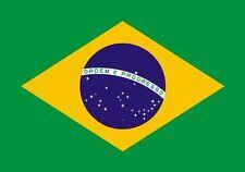PREMIUM Autoaufkleber Fahne Brasilien Brazil Auto LKW Caravan Aufkleber Sticker