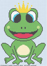 Crochet Patterns - Frog Prince Baby Boy Afghan Pattern