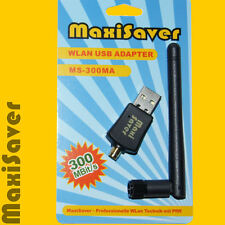 300MBit --> UPLINK & DOWNLINK <-- Wlan WiFi Stick Adapter Dongle USB N  Antenne