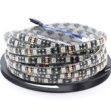 5m RGB Waterproof LED Strip tape Light 5050 SMD Black PCB car DRL string lamp DC