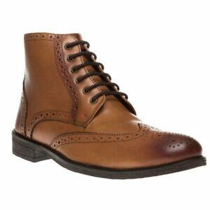 Lambretta Fleet Brown  Premium Quality  Boots UK9-10 RRP £79