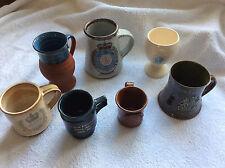 QUEEN ELIZABETH SILVER JUBILEE 1977 POTTERY SEVEN (MUGS,CUPS,TANKARDS,)