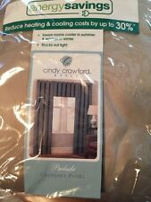 Energy Savings Grommet Panel 50 W By 108 L Cindy Crawford Style Gold Dust