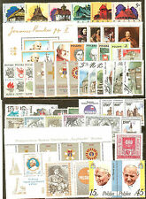 LOT POLOGNE TIMBRES NEUFS **  PAPE RELIGION EGLISE ECT... COTE + € 53