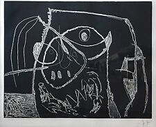 Joan Miro Original Etching - D.641 Plate IV (negative) from Serie Mallorca, 1973