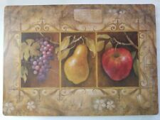 "FRUIT  TAUPE - Kitchen  Plastic - Foam Placemats 18""x13"" in  set of 4"