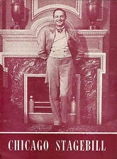 """Maurice Evans """"MAN and SUPERMAN"""" Bernard Shaw / James Daly 1948 Chicago Playbill"""