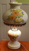 """Vintage GWTW hand painted ceramic lamp signed by artist 21.5"""" tall large heavy"""
