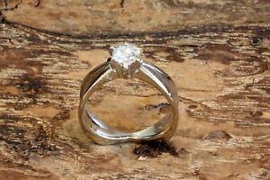 Weißgold-Ring mit Brillant Lupenrein vom Juwelier Nowak
