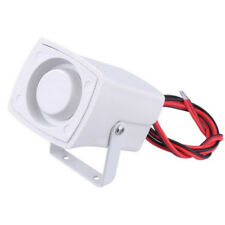 12V Alarm Siren Buzzer Horn Electronic Wired For Security System Warning White