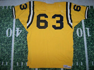 VTG Old 1960's Spanjian Game Used Worn Football Jersey Navy Midshipmen Colors