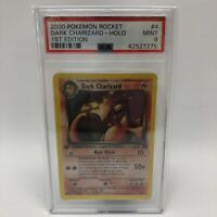 PSA 9 MINT Dark Charizard 4/82 1ST EDITION Team Rocket HOLO RARE Pokemon Card