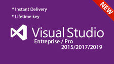 Visual Studio Enterprise/Pro 2019/2017/2015 - Unlimited PC's - Lifetime License